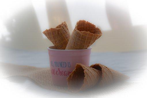 Ice, Bag, Waffle, Summer, Ice Cream, Enjoy, Dessert