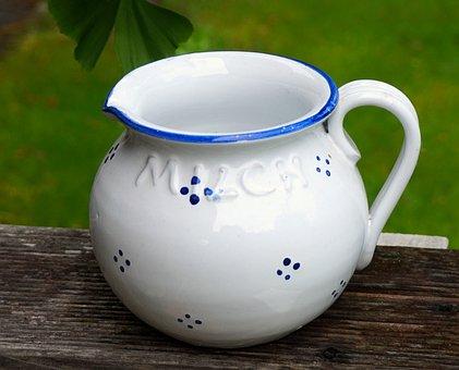Krug, Milk, Ceramic, Fresh, Healthy