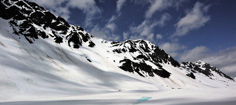 Landscape, Mountains, Alpine, Flüela, Snow, Ice