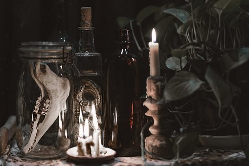 Installation, Skull, Light, Face, Shining, Vision