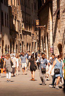 Street, People, Tourist, City, Urban, Man, Crowd