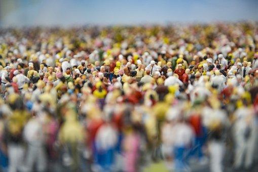 Figures, Crowd, Model Train, Demonstration, Meeting