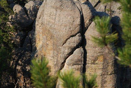 Rock, Cracks, Shadow, Nature, Art, Pattern, Cracked