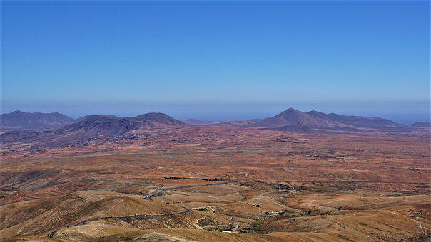 Fuerteventura, Mountains, Sea, Ocean, Canary Islands