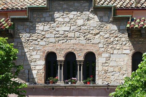 Girona, Spain, City, Window, Facade, Pillar, Catalonia