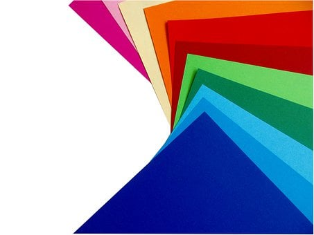 Colored Paper, Paper, Colorful, Paper Stack, Rainbow
