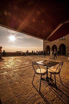 Sunset, Cafe, Restaurant, Coffee, Cup, Dawn, Espresso