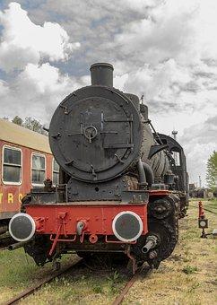 Steam Locomotive, Loco, Railway, Historically, Steam