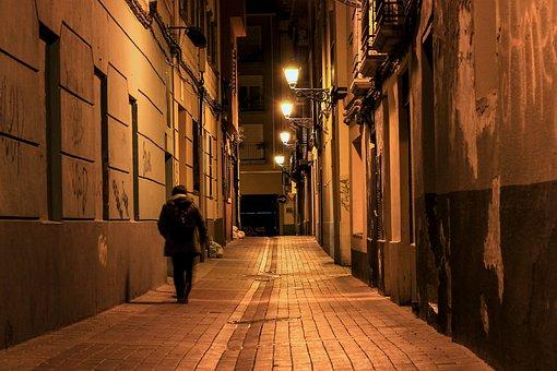 Night, Street, City, Urban, Lights, Road, Architecture