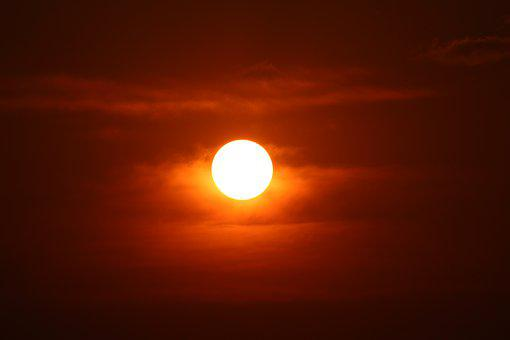 Red Sun, Sunset, Zulu, Kwazulu Natal Hammarsdale
