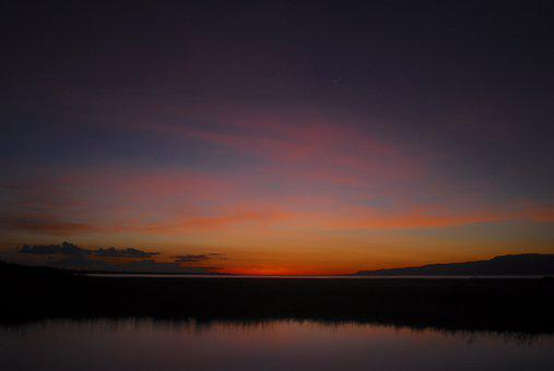 Earthday, Africa, Lake Eyasi, Tanzania, Sunset