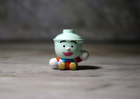 Tea Cup Fella, Small, Cute, Funny, Toy, Figurine