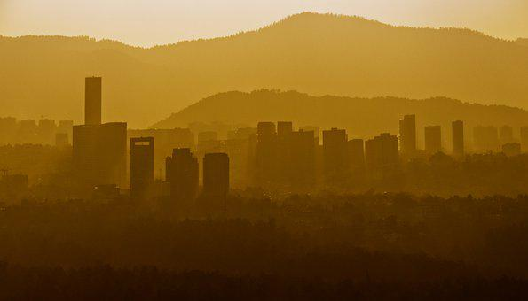 Sunset, City, Cdmx, Urban, Horizon, Buildings