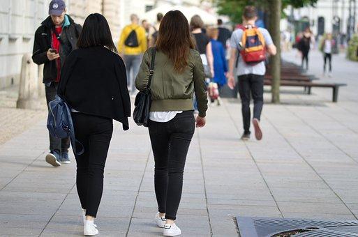 Girls, Young, Women, Walk, Going, People, The World