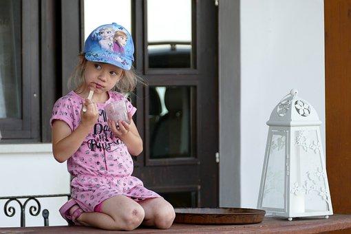 Girl, Ice Cream, Summer, Portrait, Slovenia