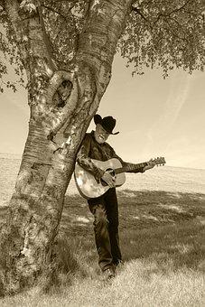 Guitar, Guitarist, Countryside, Instrument, Man, Play