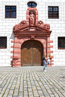 Lion Gate, Ulm, Historic Center, Architecture, Building