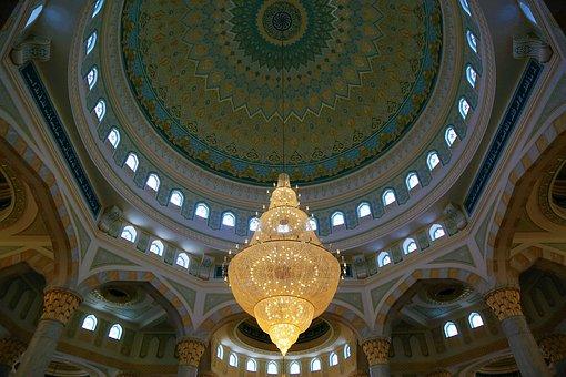 Cami, Dome, Chandelier, Ornament, Architecture, Islam