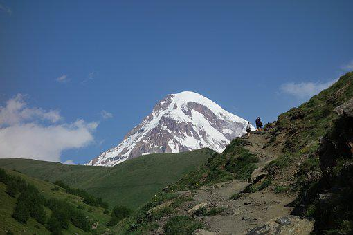 Georgia, Mountains, Kazbek, Caucasus, Landscape, Nature