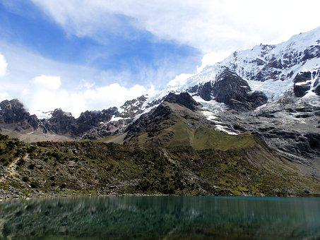 Lagoon, Lake, Mountains, Humantay, Peru, Andy, Crystal