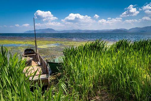 Lakeside, Boat, Lake, Nature, Water, Landscape, Leisure