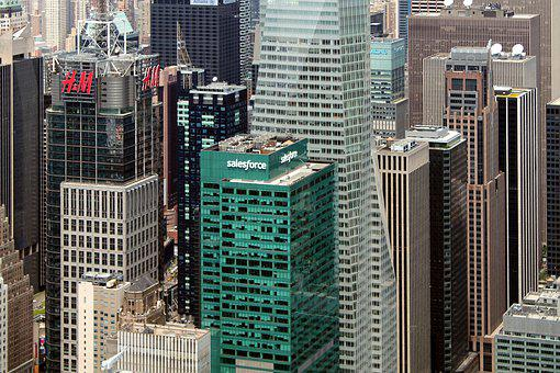 New York, Skyline, Cityscape, Skyscrapers, Usa, Nyc