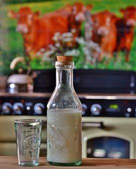 Milk, Bottle, Glass, Food, Power Supply, Dairy