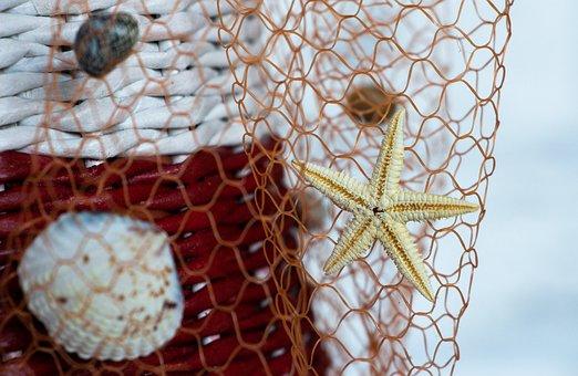 Handmade, Seashells, Network, Seafood, Starfish, Net