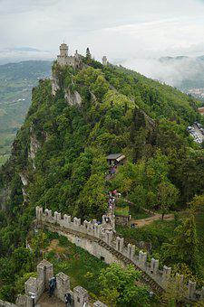 San Marino, Fort, Mountain, Sky, Landscape, Travel