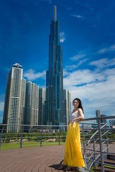 Landmark 81, Vietnam, Korean, Sky, Skyscraper, Tall