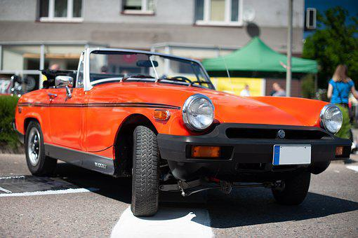 Car, Cabriolet, Red, Mg, Auto, Vintage, Vehicle