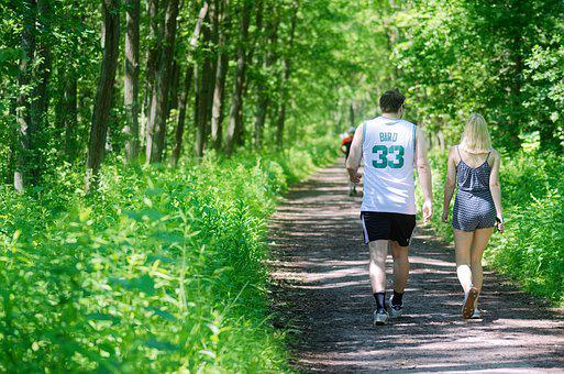 Couple, Young People, Walk, Forest, Footpath, Path
