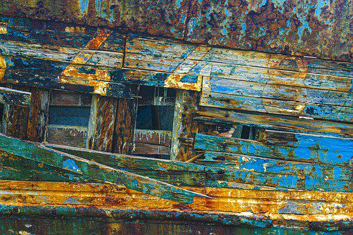 Boat, Close Up, Material, Texture, Color, Abstract