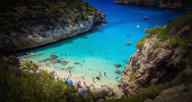 Majorca, Beach, A Sandy Beach, Holiday, Bathing, Water