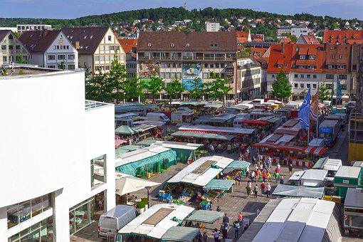 Farmers Local Market, Ulm, Cathedral Square