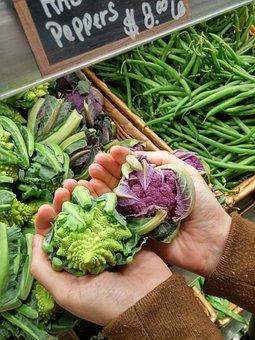 Market, Cauliflower, Vegetables, Food, Healthy