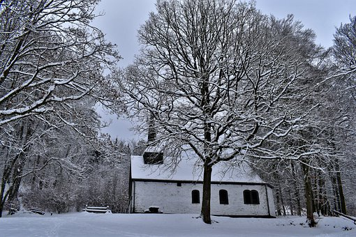 Chapel, Helzer-the, Hachiville, Luxembourg, Winter