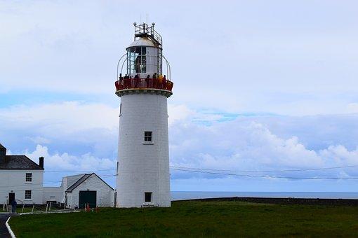 Lighthouse, Coast, Tower, Clouds, Ireland, West Coast