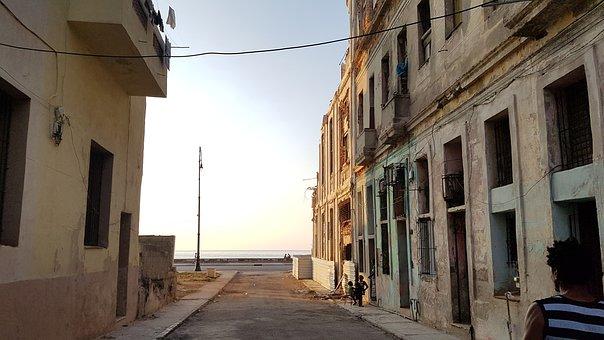 Cuba, Havana, City, Street, Architecture, Building