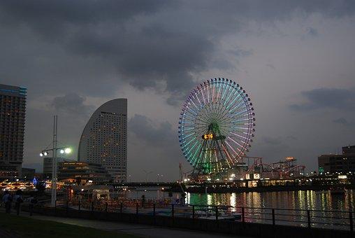 Yokohama, Us Online Store, The Ferris Wheel, Park, Fun