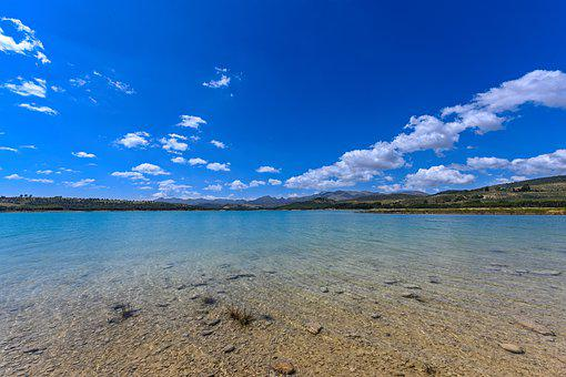 Landscape, Lake, Water, Nature, Clouds, Blue, Mountains