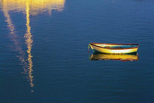 Sea, Boat, Reflection, Water, Ocean, Nature, Summer