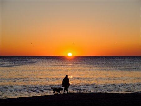 Sylt, Sun, Sonnenunetrgang, Sea, Beach, North Sea