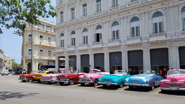 Cuba, Havana, City, Street, Car, Oldcar