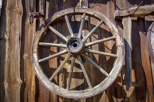 Wheel, Wagon Wheel, Wooden Wheel, Wood, Sculpture