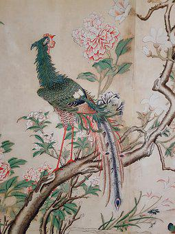Chinoiserie, Silk Wallpaper, Silk, Chinese Pavilion