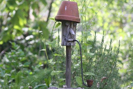 Beekeeper, Bees, Garden, Sculpture, Pipe, Scarecrow