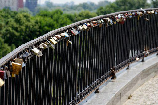Locks, Fence, Metallic, Memories, Bridge, Symbol
