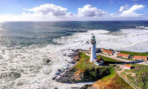 California, Pacific, Coastline, Lighthouse