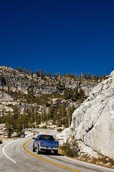 Auto, Road, Pickup, Yosemite, National Park, California